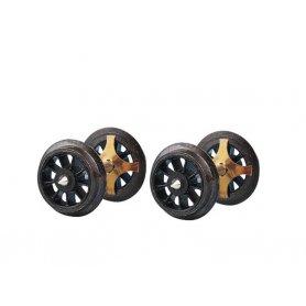 2 essieux à rayons normalisés Ø11 - HO - ROCO 40188