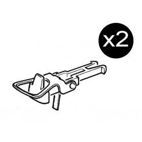 2x attelages à boucle normalisés NEM 362 - HO - ROCO 40243
