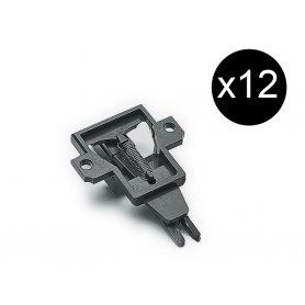 12x supports d'attelage à élongation pour wagon 2 essieux - HO - ROCO 40343