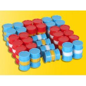 32 fûts et bidons en 4 couleurs - HO - Kibri 39386