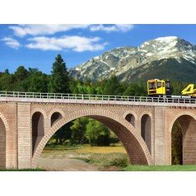 Viaduc maçonné pour voie unique - HO - Kibri 39720