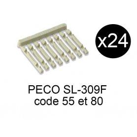 PECO SL-309F - x24 traverses type béton additionnelles pour rails échelle N