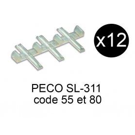 Peco SL-311- x12 éclisses isolantes échelle N code 80 et 55