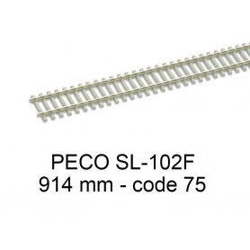 PECO SL-102F - Rail flexible 914 mm traverses béton code 75 - HO