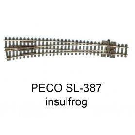 PECO SL-387 - Aiguillage courbe à gauche 10° Insulfrog échelle N