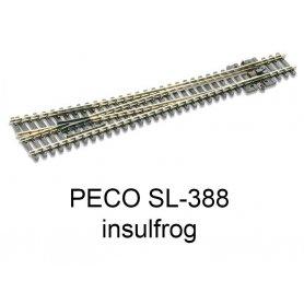 PECO SL-388 - Aiguillage droit à droite 8° Insulfrog échelle N