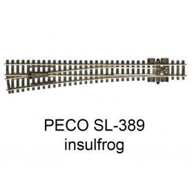 PECO SL-389 - Aiguillage droit à gauche 8° Insulfrog échelle N
