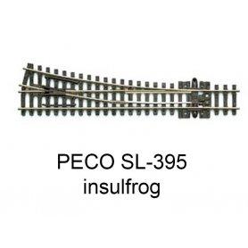PECO SL-395 - Aiguillage droit à droite 14° Insulfrog échelle N