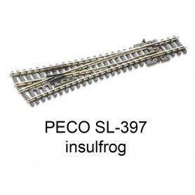 PECO SL-397 - Aiguillage symétrique Insulfrog échelle N
