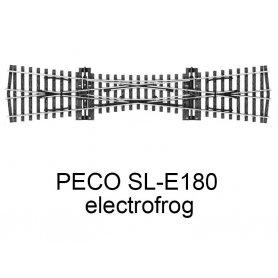 PECO SL-E180 - Traversée jonction simple (TJS) 12° electrofrog code 75 échelle HO