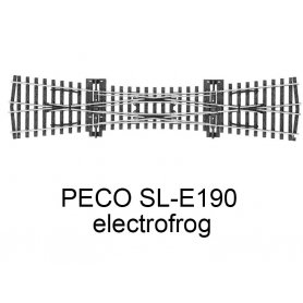 PECO SL-E190 - Traversée jonction double (TJD) electrofrog code 75 échelle HO