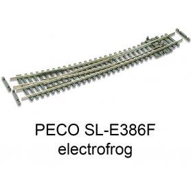 PECO SL-E386F - Aiguillage courbe à droite 10° electrofrog code 55 échelle N
