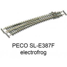 PECO SL-E387F - Aiguillage courbe à gauche 10° electrofrog code 55 échelle N