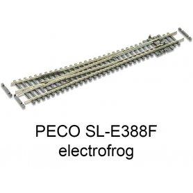 PECO SL-E388F - Aiguillage à droite grand rayon 10° electrofrog code 55 échelle N