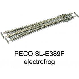 PECO SL-E389F - Aiguillage à gauche grand rayon 10° electrofrog code 55 échelle N