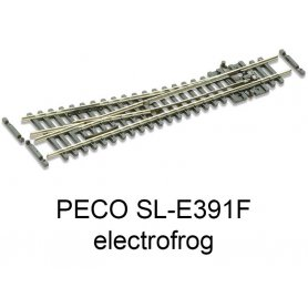 PECO SL-E391F - Aiguillage court à droite 10° electrofrog code 55 échelle N