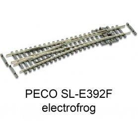 PECO SL-E392F - Aiguillage court à gauche 10° electrofrog code 55 échelle N