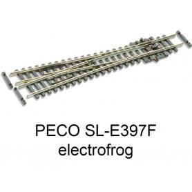 PECO SL-E397F - Aiguillage symétrique 10° electrofrog code 55 échelle N