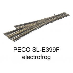 PECO SL-E399F - Aiguillage triple 10° electrofrog code 55 échelle N