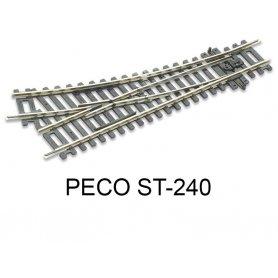 PECO ST-240 - aiguillage court à droite code 100 échelle HO