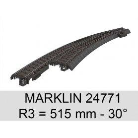 Aiguillage courbe à gauche voie C 30° Marklin 24771