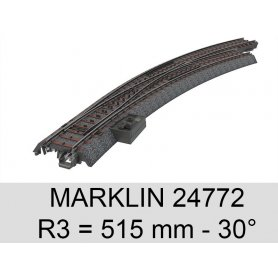 Aiguillage courbe à droite voie C 30° Marklin 24772