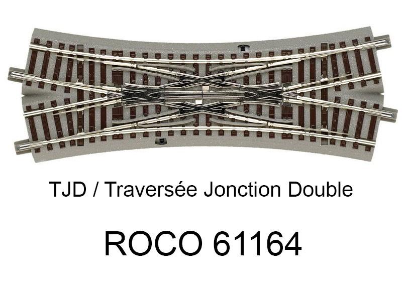 Trix 62624 Traversé jonction double 188.3mm 24.3 degrés Voie C HO