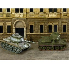 2x chars russes T 34/85 à assemblage rapide - WWII - Italeri 7515