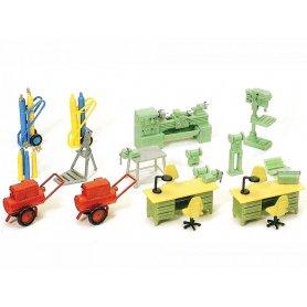 Set d'équipement pour atelier - HO 1/87 - PREISER 17185