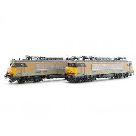 Coffret 2x BB 22000 faces jaunes ép V-VI - analogique DC - HO - LS Models 10052