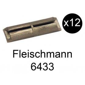 12x éclisses isolantes pour voie Profi HO - FLEISCHMANN 6433