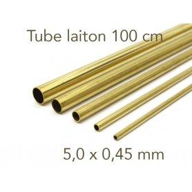 Tube laiton longueur 1 mètre - 5.0 x 0.45 mm - Albion