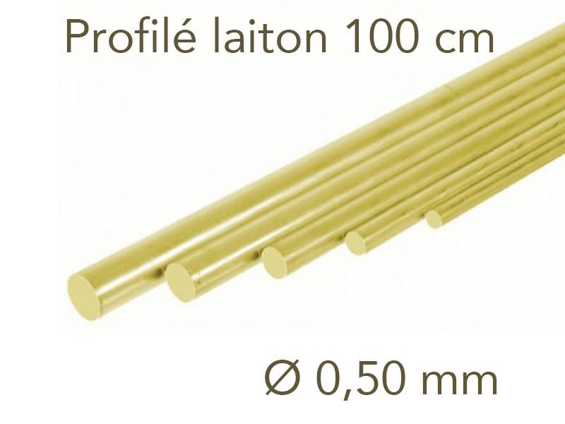 1000 x 10 mm laiton Profil/é plat