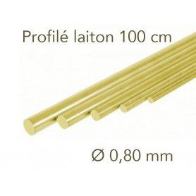 Profilé laiton longueur 1 mètre - Ø 0.8 mm - Albion