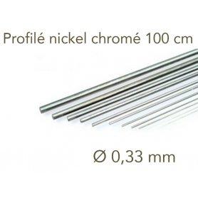 Profilé nickel chromé longueur 1 mètre - Ø 0.33 mm - Albion