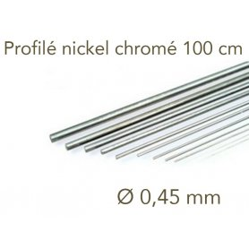 Profilé nickel chromé longueur 1 mètre - Ø 0.45 mm - Albion