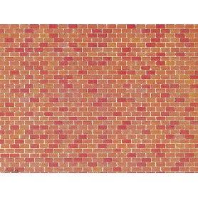 Faller 170608 - Plaque décor - mur de briques - HO