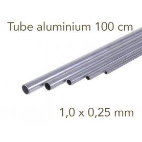 Tube aluminium longueur 1 mètre - 1.0 x 0.25 mm - Albion