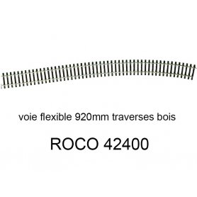 Voie flexible 920mm traverses bois code 83 - HO - ROCO 42400