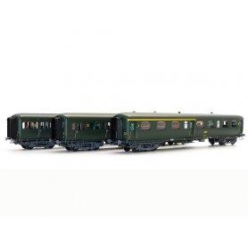 Set 3 voitures Express Nord A3B4, B9t, B11tz SNCF - ép IV - HO - 40331 LS Models