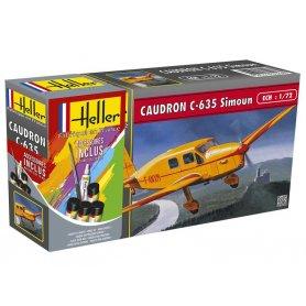 Caudron C-635 Simoun avec colle + peinture - 1/72 - HELLER 56208