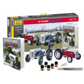 Kit 2 tracteurs Ferguson TE-20 et FF-30 - échelle 1/24 - HELLER 52323
