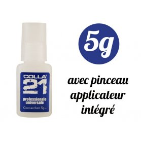 Colle 21 - flacon 5 grammes avec pinceau applicateur - Cyanoacrylate anaérobie