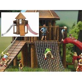 Aire de jeux enfants - château en bois - HO - BUSCH 1487