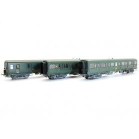 Set 3 voitures Express Nord B11 et B4D SNCF - ép IVa - HO - 40330 LS Models