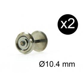 2 essieux de remplacement pour JOUEF Ø10.4 mm