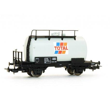 Wagon citerne à essieux TOTAL SNCF époque V HO - PIKO 97084