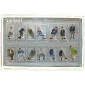 14 personnages assis - HO 1/87 - PREISER 10524