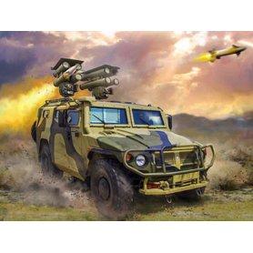 GAZ Tiger avec Missiles Kornet - 1/35 - ZVEZDA 3682