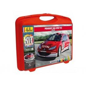 Peugeot 206 WRC'03 avec peinture - échelle 1/43 - HELLER 60113